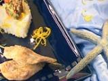 Писия с лимоново ризото и рататуй