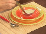 Лучена супа с праз и топено сирене 10