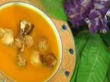 Тиквена супа с кашкавалени крутони