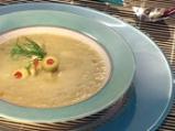 Супа от зелени маслини и праз