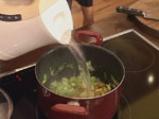 Супа от зелени маслини и праз 3