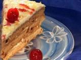 Медена торта с цедено кисело мляко и ...