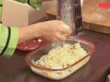 Картофен огретен с гъби и праз лук 10