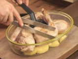 Пиле с картофи и царевица 4