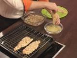 Пъстърва с орехова коричка и синьо сирене 5