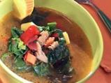 Пилешка супа със спанак и картофи
