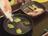 Скумрия в зелен сос и грахови тиганици 5