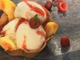 Сладолед с праскови