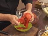 Патладжани с доматен сос и макарони 6