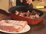 Свински гърди със сладко-кисело баварско зеле и картофи с коричка 2