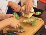 Пангасиус със спанак и зеленчуци на пара 2