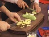 Огретен с тофу и зеленчуци