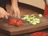 Огретен от тиквички и домати