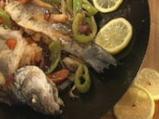 Лаврак със зеленчуци в сладко-кисел сос