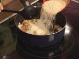 Печено свинско за Йордановден с ориз и горски гъби 5