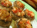 Пълнени печурки с рулца от раци