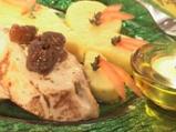 Пилешко със смокини и козе сирене