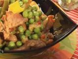 Свинско с грах и къри