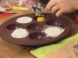 Шоколадов мус с манго и какаова бисквита 9