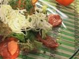 Салата от спанак и домат конфи