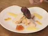 Филе от пуйка с патешки дроб и сос от черен шоколад 4