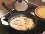 Пилешко със спанак и сирене 5