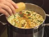 Царевична супа с чушки и тиквички 2