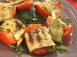 Запечени домати с моцарела и тиквички