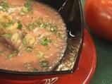 Студена доматена супа с ескабече от п...