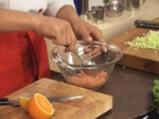 Сьомга тартар с плодов дресинг