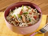 Ориз с гъби и бекон