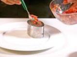 Тартар от риба тон с компот от банан и домат с шафран 4