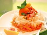 Салата от ряпа и моркови с винегрет