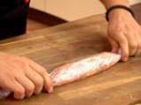 Рулца от сьомга със заквасена сметана и червен хайвер 5
