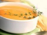 Крем супа с цвят от тиквички
