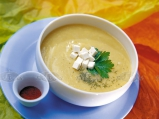 Супа от печени картофи със сирене