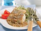 Риба с бадемов сос