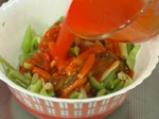 Салата от зелен фасул с доматен винегрет 3