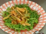 Салата от зелен фасул с доматен винегрет 4