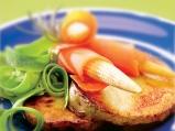 Риба меч със зеленчукови фетучини