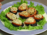 Патладжанено канапе с домати 4
