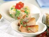 Свинско печено с оризово-зеленчуков микс