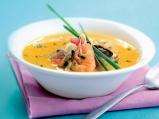 Супа с миди, скариди и бяла риба