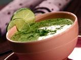 Студена супа от див чесън