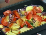 Мариновано пиле с картофи 4