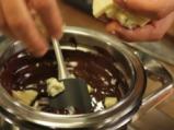 Круша с шоколад и синьо сирене 4