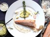 Риба на сол с естрагонов сос и ремулада