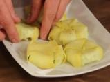 Картофено предястие с пълнеж от сирене  8