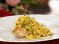 Пилешко с манго салца