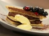 Милфьой с шоколад и лавандула